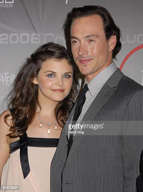 Actress Ginnifer Goodwin and actor Chris Klein arrive at the 2008 Crystal Lucy Awards 'A Black And White Gala' held at the Beverly Hilton Hotel on...