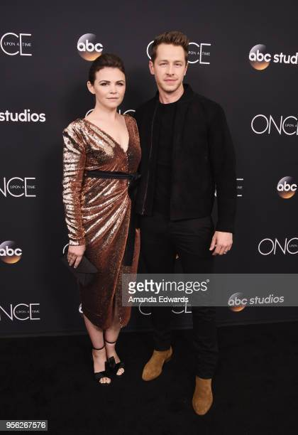 Actress Ginnifer Goodwin and actor Josh Dallas arrive at the 'Once Upon A Time' finale screening at The London West Hollywood at Beverly Hills on May...