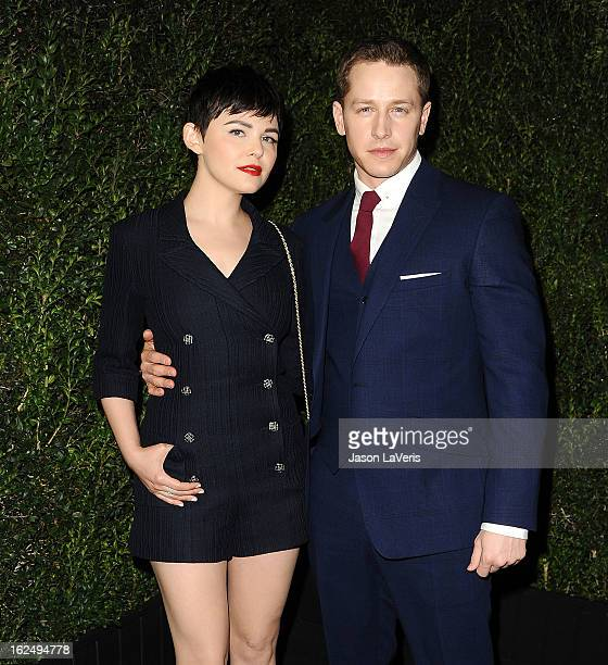 Actress Ginnifer Goodwin and actor Josh Dallas attend the Chanel PreOscar dinner at Madeo Restaurant on February 23 2013 in Los Angeles California