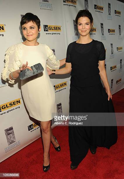 Actress Ginnifer Goodwin and actress Jeanne Triplehorn arrive to the 6th Annual GLSEN Respect Awards at the Beverly Hills Hotel on October 8 2010 in...