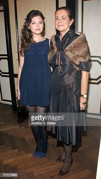 Actress Ginnifer Goodwin and designer Rossella Jardini attend a Moschino dinner at Bergdorf Goodman hosted by Alexis Bryan Nina Garcia Ginnifer...
