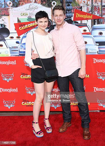 Actress Ginnifer Goodwin and Josh Dallas attend the Grand Opening Of 'Cars Land' At Disneyland Resort on June 13 2012 in Anaheim California
