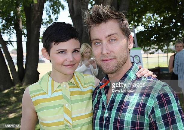 Actress Ginnifer Goodwin and recording artist Lance Bass attend the Environmental Media Association's 3rd Annual Garden Luncheon at Carson Senior...