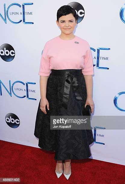 Actress Ginnifer Goodwin arrives at ABC's Once Upon A Time Season 4 Red Carpet Premiere at the El Capitan Theatre on September 21 2014 in Hollywood...
