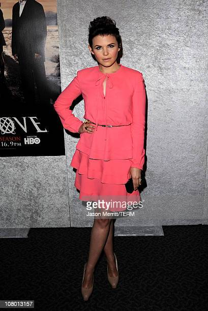 Actress Ginnifer Goodwin arrives at HBO's Big Love Season 5 premiere at Directors Guild of America on January 12 2011 in Los Angeles California