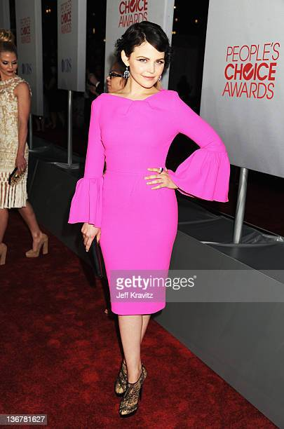 Actress Ginnifer Goodwin arrives at the 2012 People's Choice Awards at Nokia Theatre LA Live on January 11 2012 in Los Angeles California