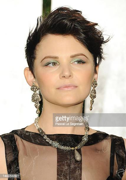 Actress Ginnifer Goodwin arrives at the 2012 Vanity Fair Oscar Party hosted by Graydon Carter at Sunset Tower on February 26 2012 in West Hollywood...