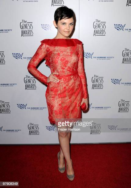 Actress Ginnifer Goodwin arrives at the 24th Genesis Awards held at the Beverly Hilton Hotel on March 20 2010 in Beverly Hills California