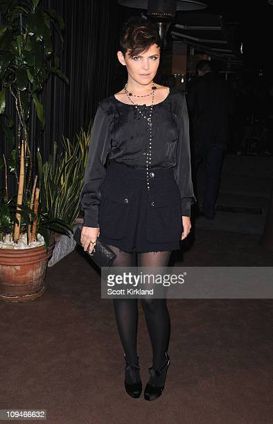 Actress Ginnifer Goodwin arrives at the Chanel Charles Finch PreOscar Dinner Celebrating Fashion Film at Madeo Restaurant on February 26 2011 in Los...