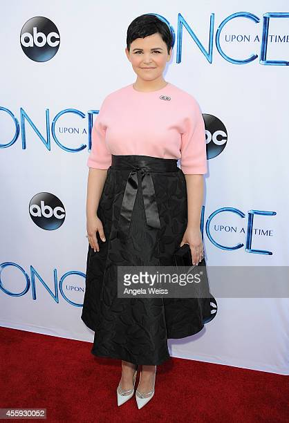 Actress Ginnifer Goodwin attends ABC's Once Upon A Time Season 4 red carpet premiere at the El Capitan Theatre on September 21 2014 in Hollywood...