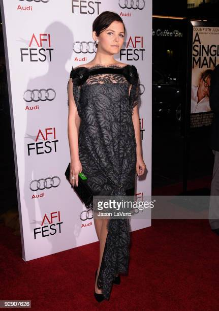 Actress Ginnifer Goodwin attends the AFI Fest 2009 premiere of A Single Man at Grauman's Chinese Theatre on November 5 2009 in Hollywood California