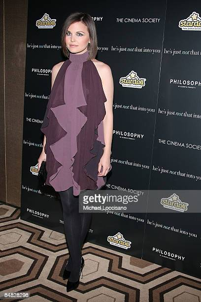 Actress Ginnifer Goodwin attends the Cinema Society Philosophy and Stardoll screening of He's Just Not That Into You at the Tribeca Grand Screening...