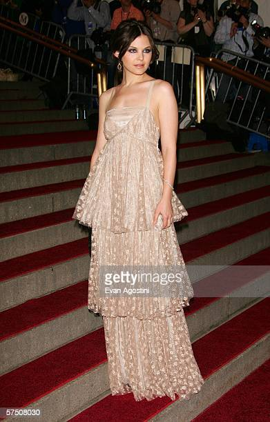 Actress Ginnifer Goodwin attends the Metropolitan Museum of Art Costume Institute Benefit Gala Anglomania at the Metropolitan Museum of Art May 1...