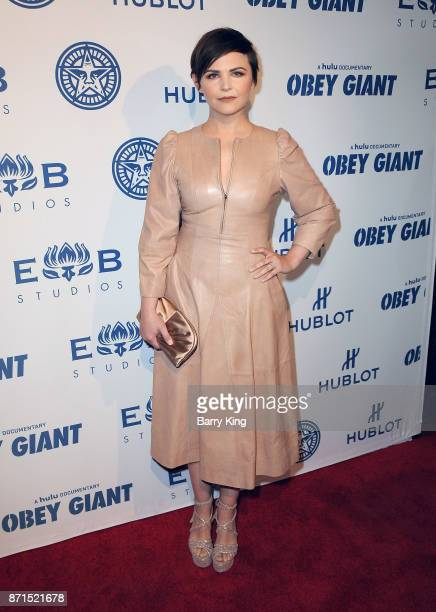 Actress Ginnifer Goodwin attends the photo op for Hulu's 'Obey Giant' at The Theatre at Ace Hotel on November 7 2017 in Los Angeles California
