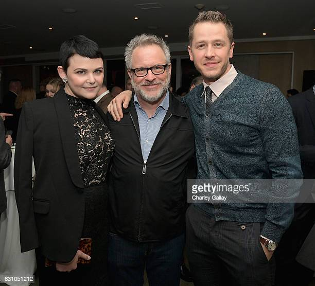 Actress Ginnifer Goodwin director Rich Moore and actor Josh Dallas attend a reception to honor ZOOTOPIA screenwriters Jared Bush and Phil Johnston at...