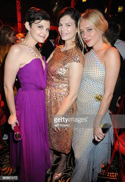 Actress Ginnifer Goodwin, Jeanne Tripplehorn and Sevigny attends HBO's post Emmy Awards reception at the Pacific Design Center on September 20, 2009...