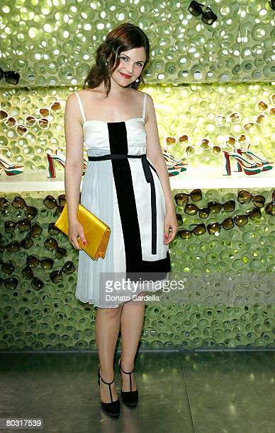 Actress Ginnifer Goodwin wearing Prada attends the Los Angeles screening of Trembled Blossoms presented by Prada on March 19 2008 in Beverly Hills...