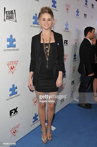 Actress Ginny Gardner attends Autism Speaks' 3rd Annual 'Blue Jean Ball' presented by The GUESS Foundation at Boulevard 3 on October 24 2013 in...