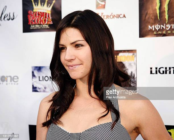 Actress Ginny Weirick arrives at the Wolf Moon Los Angeles premiere Arrivals at Raleigh Studios Chaplin Theatre on June 17 2010 in Los Angeles...