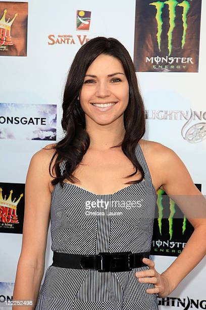 Actress Ginny Weirick arrives at the Wolf Moon North American DVD Premiere at Raleigh Studios on June 17 2010 in Los Angeles California