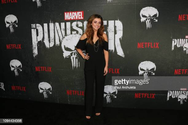 Actress Giorgia Whigham attends Marvel's The Punisher Los Angeles premiere at the ArcLight Hollywood on January 14 2019 in Hollywood California