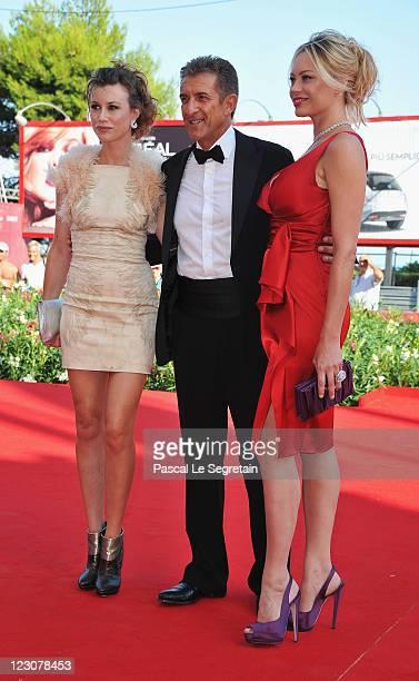 Actress Giorgia Wurth director/producer Ezio Greggio and actress Anna Falchi attend the Box Office 3D premiere during the 68th Venice Film Festival...