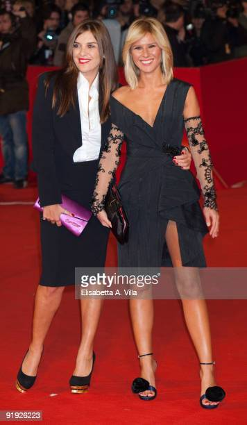 Actress Gisella Marengo and television presenter Ingrid Muccitelli attend the 'Triage' premiere during Day 1 of the 4th Rome International Film...