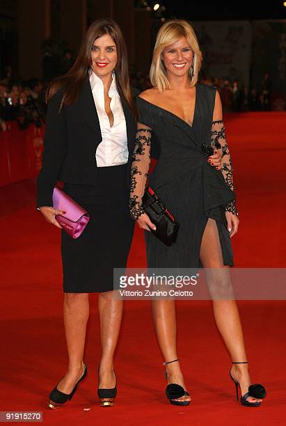 Actress Gisella Marengo and TV presenter Ingrid Muccitelli attend the 'Triage' premiere during Day 1 of the 4th International Rome Film Festival held...
