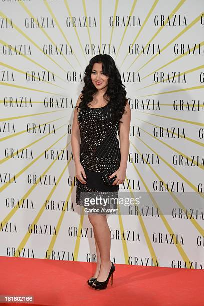 Actress Giselle Calderon attends the Grazia magazine launch party at the Price theater on February 12 2013 in Madrid Spain