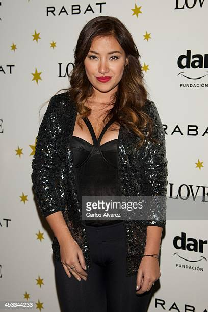 Actress Giselle Calderon attends the Stars Charity event at the Rabat Jewelry on December 3 2013 in Madrid Spain