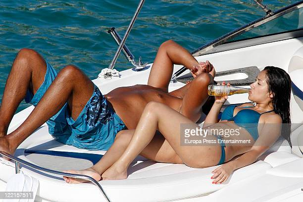 Actress Giselle Calderon is seen on a yacht on August 26 2011 in Ibiza Spain