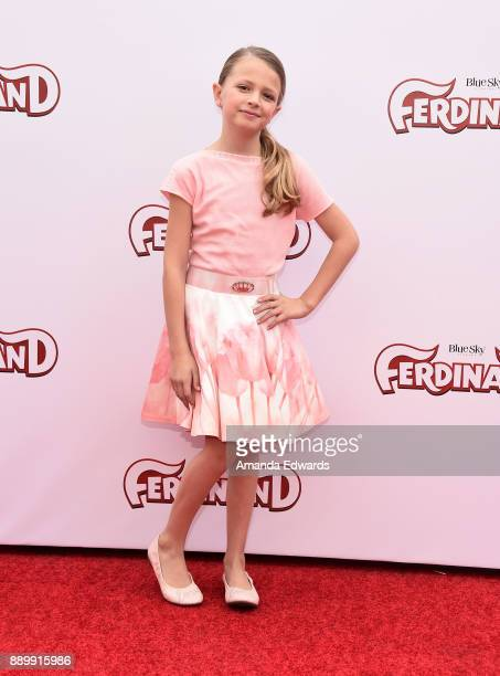 Actress Giselle Eisenberg arrives at a screening of 20th Century Fox's 'Ferdinand' at the Zanuck Theater at 20th Century Fox Lot on December 10 2017...