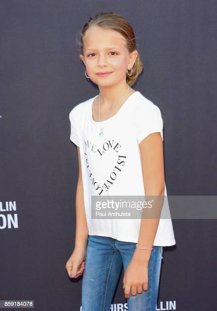 Actress Giselle Eisenberg attends PS ARTS' Express Yourself 2017 event at Barker Hangar on October 8 2017 in Santa Monica California