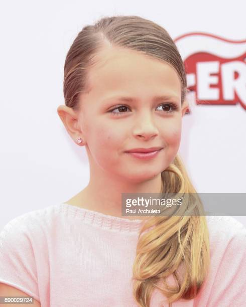Actress Giselle Eisenberg attends the screening of 'Ferdinand' at The Zanuck Theater at 20th Century Fox Lot on December 10 2017 in Los Angeles...