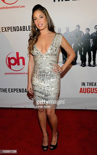 Actress Giselle Itie arrives at a screening of Lionsgate Films' The Expendables at the Planet Hollywood Resort Casino August 11 2010 in Las Vegas...