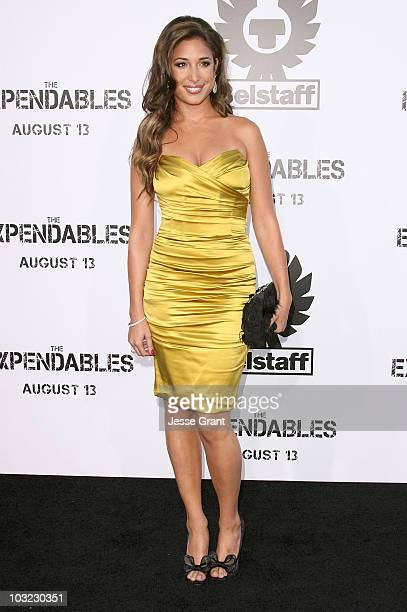 Actress Giselle Itie arrives at the premiere of 'The Expendables' at Grauman's Chinese Theatre on August 3 2010 in Hollywood California