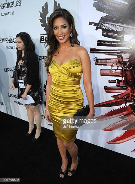 Actress Giselle Itie arrives at the The Expendables Los Angeles Premiere held at Grauman's Chinese Theatre on August 3 2010 in Hollywood California