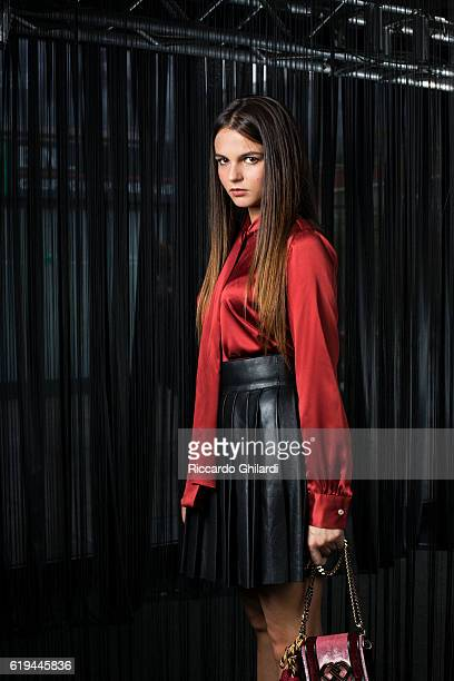 Actress Giulia Anchisi is photographed for Self Assignment on October 15 2016 in Rome Italy