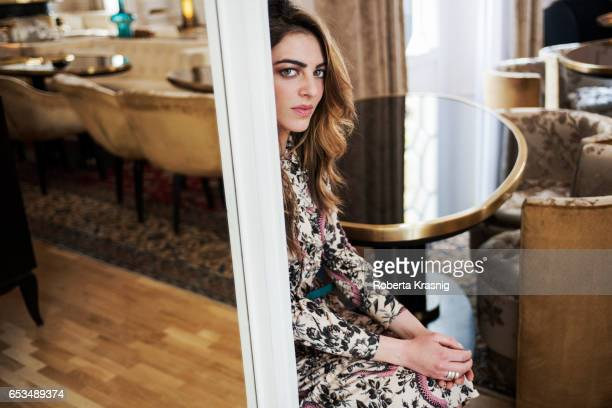 Actress Giulia Andò is photographed for Self Assignment on April 6 2016 in Milan Italy