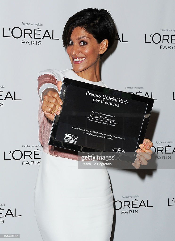 """""""L'Oreal Paris Per Il Cinema"""" Award - The 69th Venice Film Festival"""