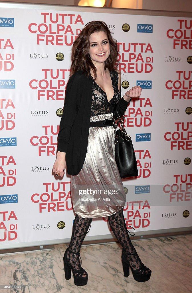 Actress Giulia Elettra Gorietti attends 'Tutta colpa di Freud' premiere at Teatro dell'Opera on January 20, 2014 in Rome, Italy.