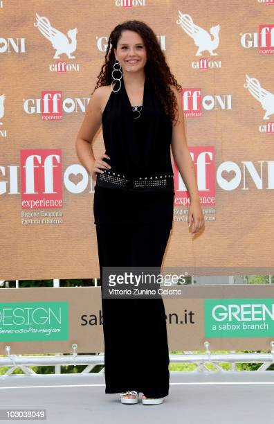 Actress Giulia Luzi attends a photocall during the Giffoni Experience 2010 on July 22 2010 in Giffoni Valle Piana Italy