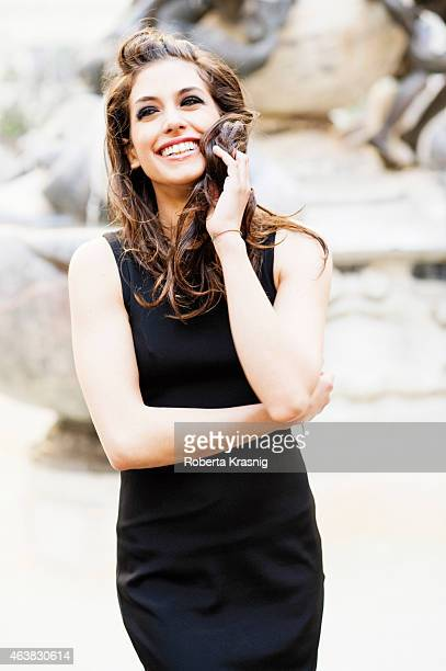Actress Giulia Michelini is photographed for Self Assignment on October 10 2011 in Rome Italy
