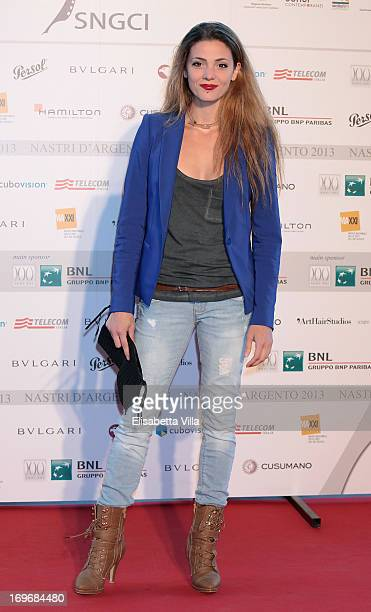 Actress Giulia Valentini attends 2013 Nastri d'Argento Award Nominations at Maxxi Museum on May 30 2013 in Rome Italy