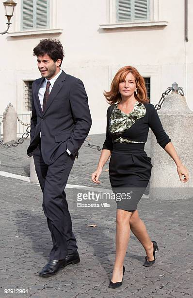 Actress Giuliana De Sio and guest attend '2009 Vittorio De Sica Awards' at Quirinale on November 9, 2009 in Rome, Italy.