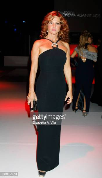 Actress Giuliana De Sio attends the Cocktail Reception for amfAR's second annual Cinema Against AIDS Rome at the Galleria Borghese on October 24,...