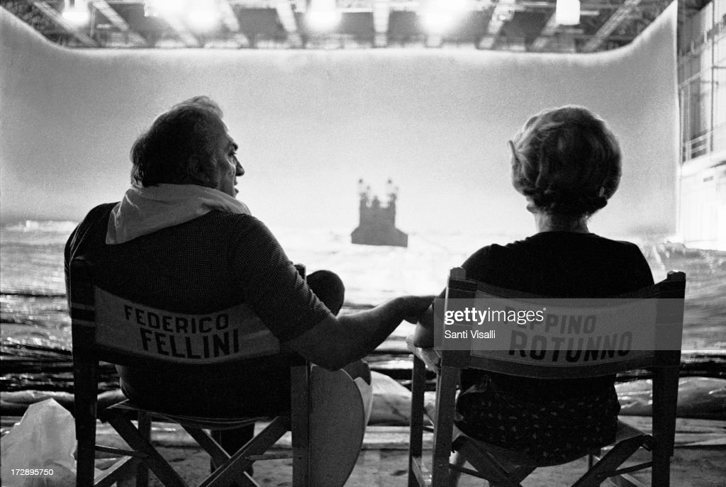Actress Giulietta Masina On The Set Of Casanova With Federico Fellini : News Photo