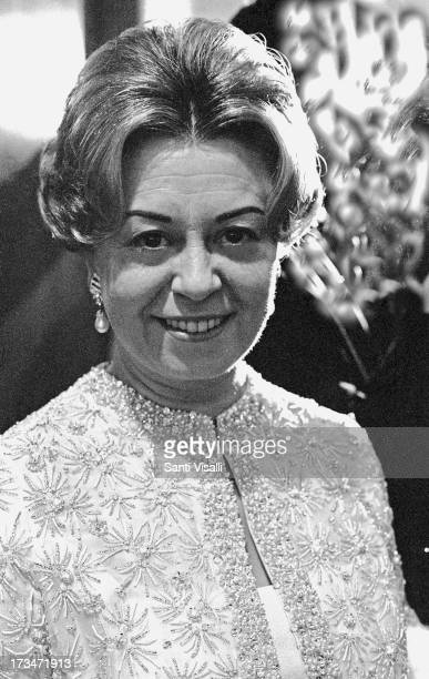 Actress Giulietta Masina posing for a portrait on December 201967 in New York New York