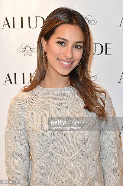 Actress Gizem Emre during the Allude store opening on January 6 2017 in Kitzbuehel Austria