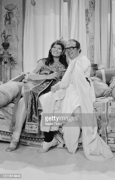 Actress Glenda Jackson and comedian Eric Morecambe in a sketch for the BBC television series 'The Morecambe and Wise Show', May 11th 1971.